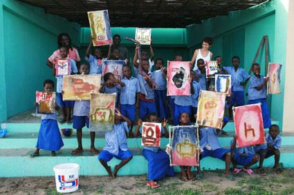 Taller de reciclado, Grand Popo, Benin, Africa 2008