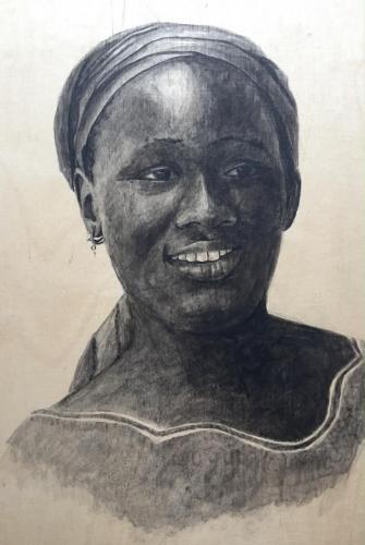 Priere rituelle dans l'Islam (portrait from our cooker in Dakar)